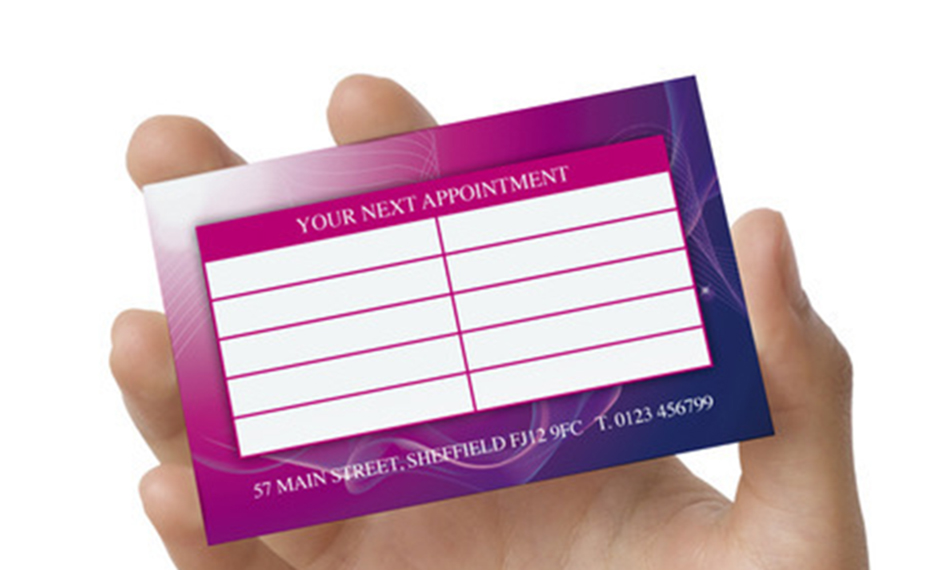 Appointment cards printing the imaging professionals how unique business cards make you stand out of the crowd reheart Images